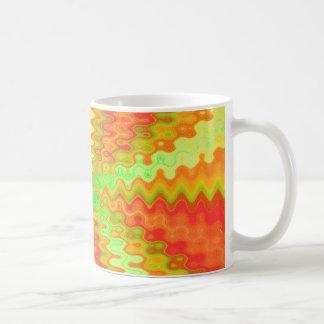 groovy yellow orange basic white mug