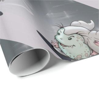 GROP CUTE ALIEN CARTOON FUNNY Wrapping Paper