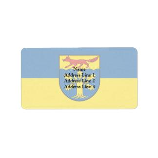 Gross Gievitz, Germany flag Address Label