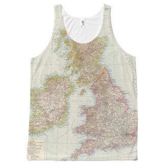 Grossbritannien, Irland - Map of UK, Ireland All-Over Print Tank Top