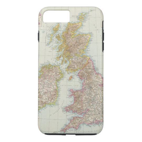 Grossbritannien, Irland - Map of UK, Ireland iPhone 7 Plus Case