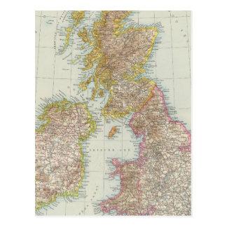 Grossbritannien, Irland - Map of UK, Ireland Postcard