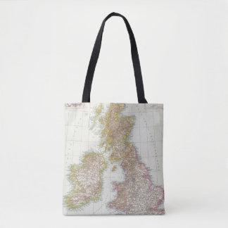 Grossbritannien, Irland - Map of UK, Ireland Tote Bag