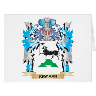 Grosse Coat of Arms - Family Crest Greeting Card
