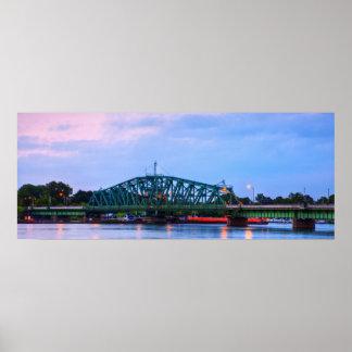Grosse Ile Parkway Bridge At Dawn Poster