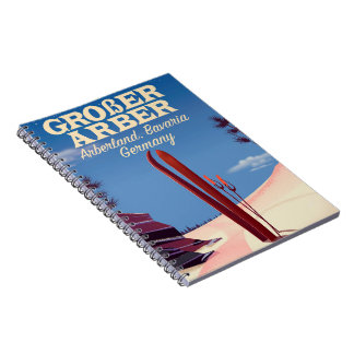 Großer Arber, Arberland, Bavarian German ski Spiral Notebook