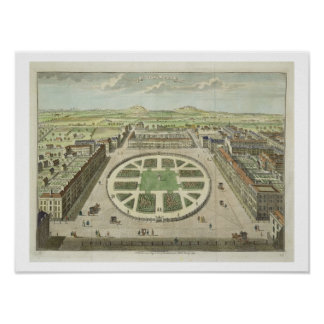 Grosvenor Square, for 'Stow's Survey of London', p Poster