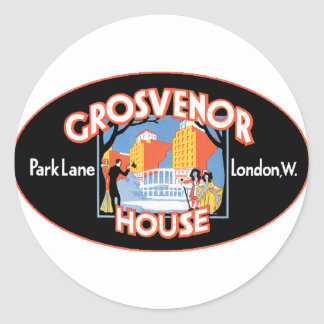 GrosvenorHouseLondon Round Sticker