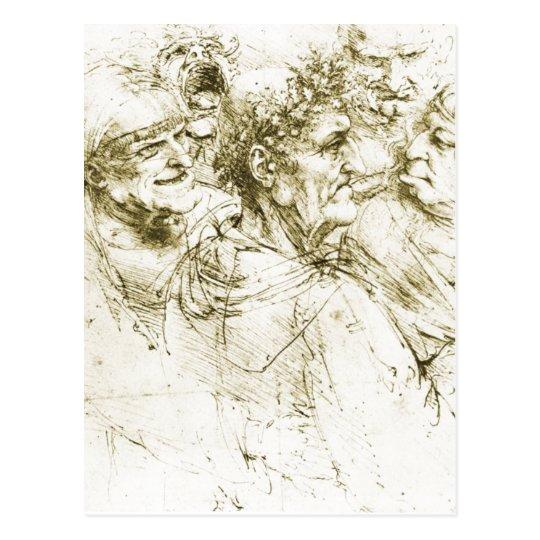 Grotesque Heads Leonardo da Vinci Date : circa
