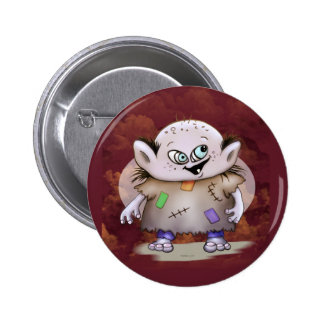GROTOV ALIEN MONSTER CARTOON  Button 2¼ Inch