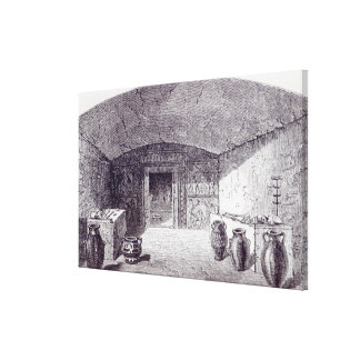 Grotta Campana at the time of its discovery Canvas Print