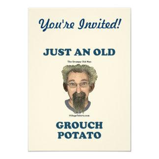 Grouch Potato 13 Cm X 18 Cm Invitation Card