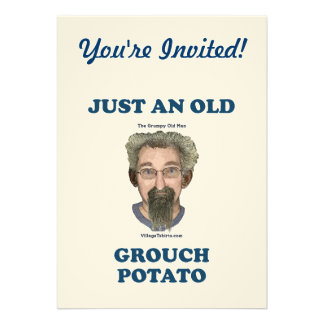 Grouch Potato Personalized Invitations