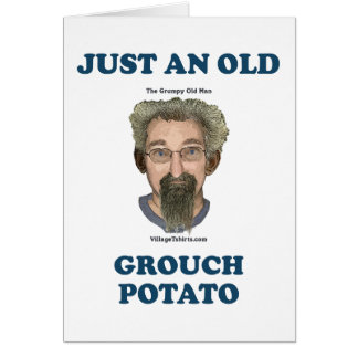 Grouch Potato Note Card