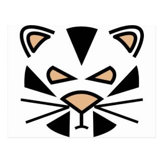 grouching tiger. postcard