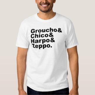 Groucho & Chico & Harpo & Zeppo T Shirts