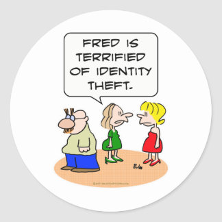 groucho glasses terrified identity theft round stickers