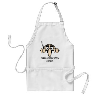 Groucho was here adult apron