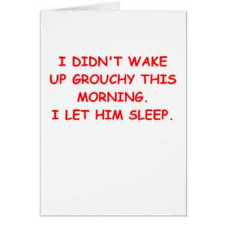 grouchy greeting cards