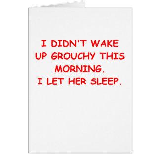 grouchy greeting card