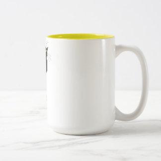 grouchy cat 2 tone mug