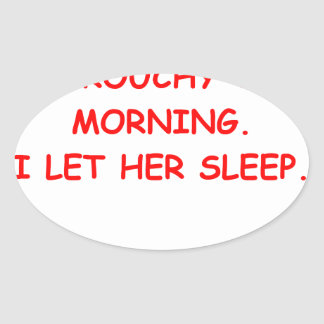 grouchy oval stickers