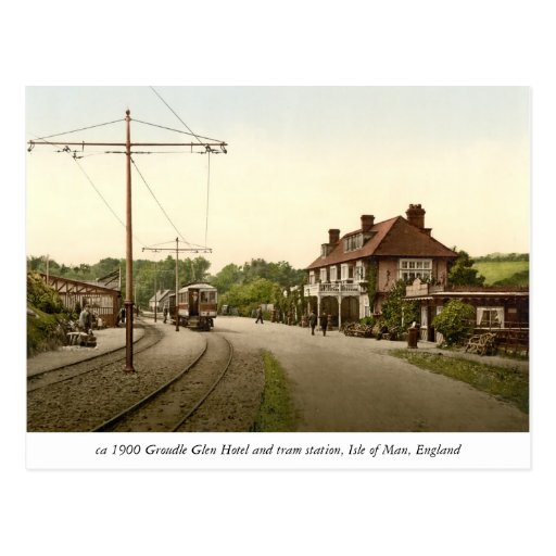Groudle Glen Hotel, tram station, Isle of Man Postcard
