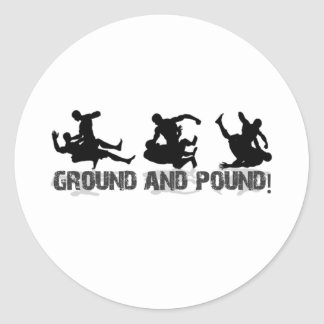 Ground and Pound Line Classic Round Sticker