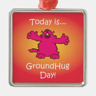 Ground Hug Day Christmas Ornament
