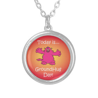 Ground Hug Day Silver Plated Necklace