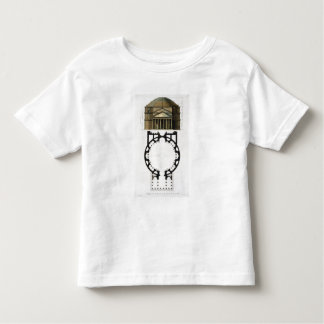 Ground plan and facade of the Pantheon, Rome, from Toddler T-Shirt