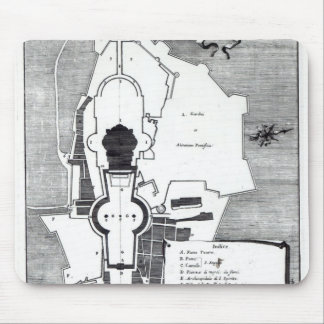 Ground plan of the Vatican, Rome Mouse Mat