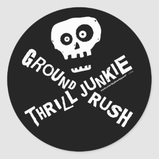 Ground Rush Skydiver Classic Round Sticker