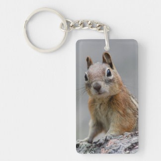 Ground Squirrel Double-Sided Rectangular Acrylic Key Ring
