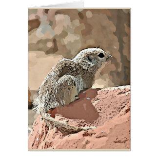 Ground Squirrel in Cartoon Note Card