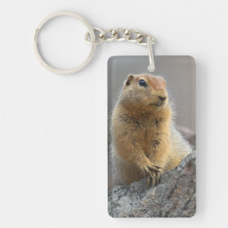 Ground Squirrel Single-Sided Rectangular Acrylic Key Ring