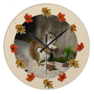 Ground Squirrel Large Clock