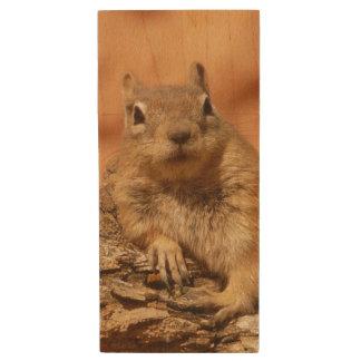 Ground Squirrel Wood USB Flash Drive