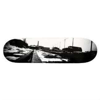 Ground View Of Rail Road Tracks Custom Skateboard