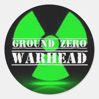 Ground Zero Warhead Classic Round Sticker