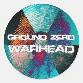 Ground Zero Warhead Finger Print Classic Round Sticker
