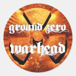 Ground Zero Warhead Rusted Classic Round Sticker