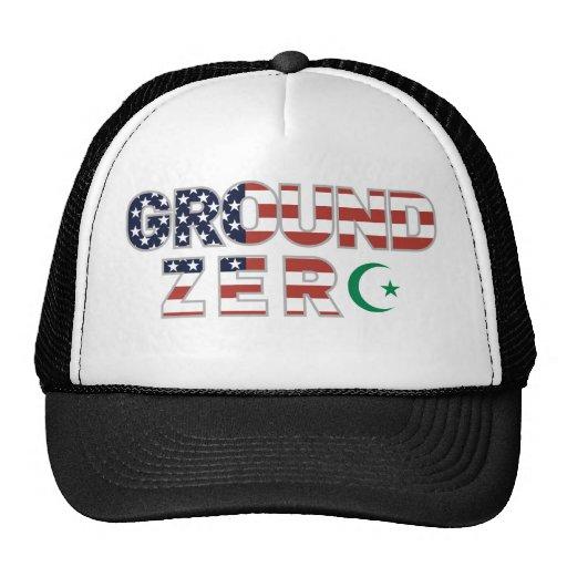 Ground zero with islam muslim symbol sign hat