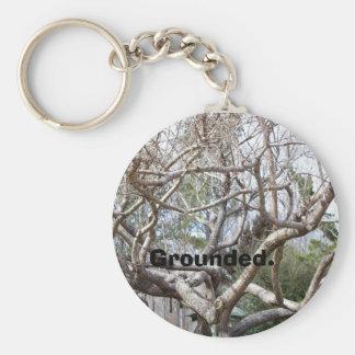 Grounded. Basic Round Button Key Ring