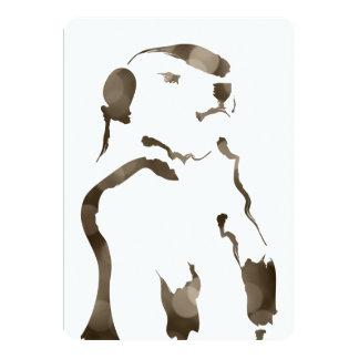 groundhog bokeh 13 cm x 18 cm invitation card