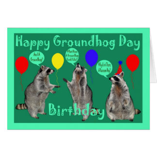 Groundhog Day Birthday Greeting Card