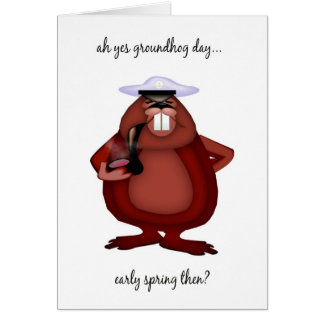 Groundhog Day Card - Fun Groundhog Day Card