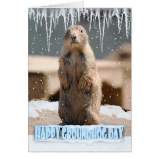 Groundhog Day Card, Happy Groundhog Day Greeting Card