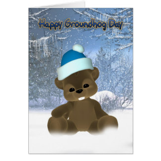Groundhog Day Card - Here's To An Early Spring
