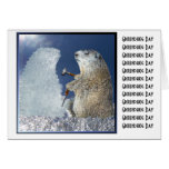 Groundhog Day Ice Sculpture Greeting Card